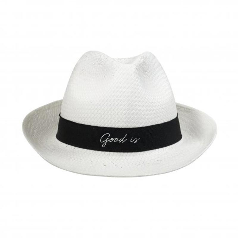 Chapeau publicitaire Doulos paille de papier à personnaliser avec logo