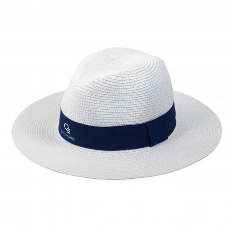 Chapeau de paille personnalisé Fedora - Cadoétik