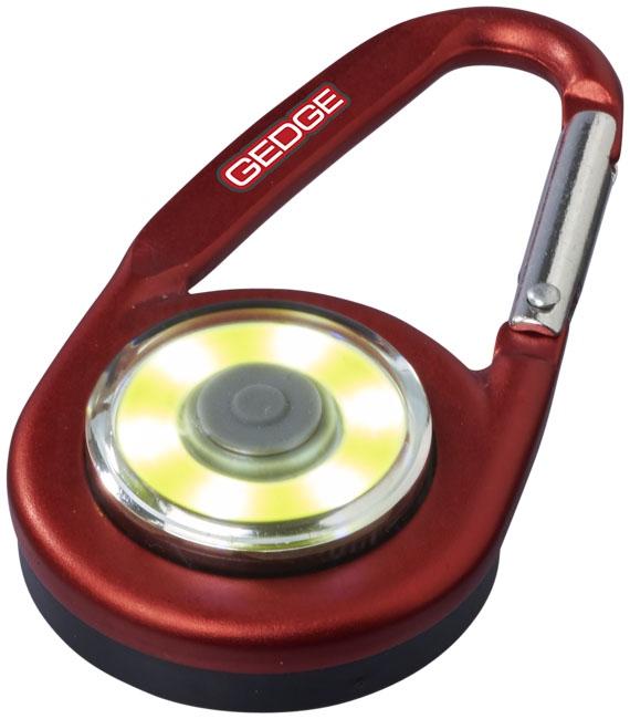 Mousqueton avec lampe publicitaire COB Eye rouge