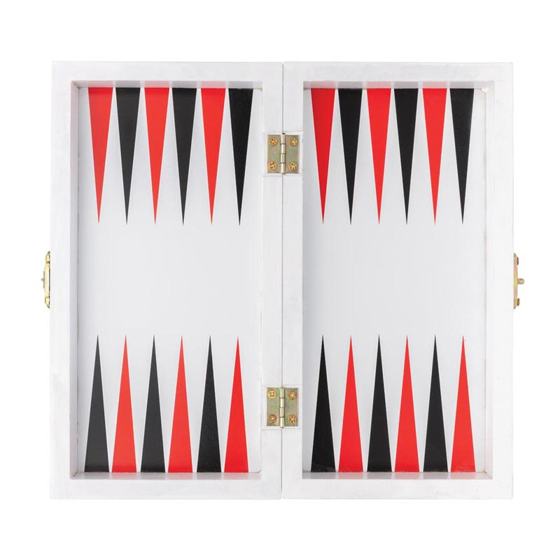 Jeu publicitaire ouvert - jeu du backgammon