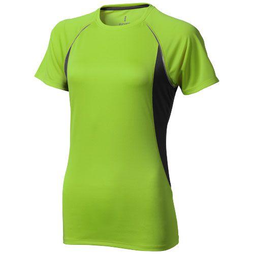 T-shirt vert et noir manches courtes pour femme