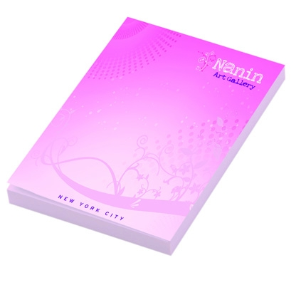 Bloc-notes publicitaire BIC® 50 x 75 mm Sheet adhésives Notepads Ecolutions® - bloc-notes personnalisables