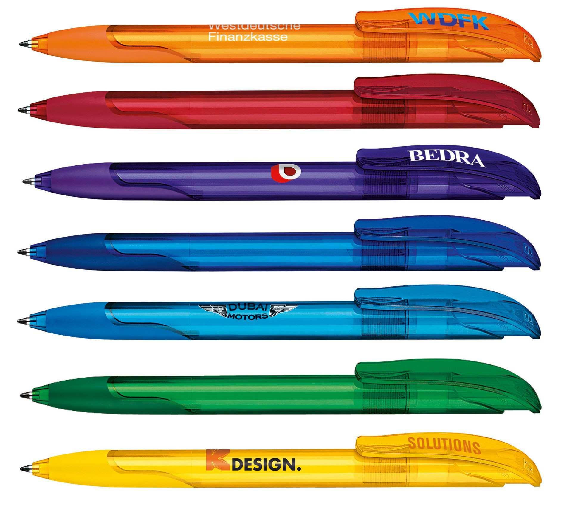 Stylo publicitaire écologique Challenger Transparent avec grip - stylo personnalisable