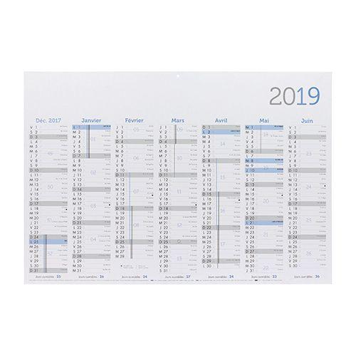 calendrier rembordé publicitaire 2019 - calendrier personnalisé