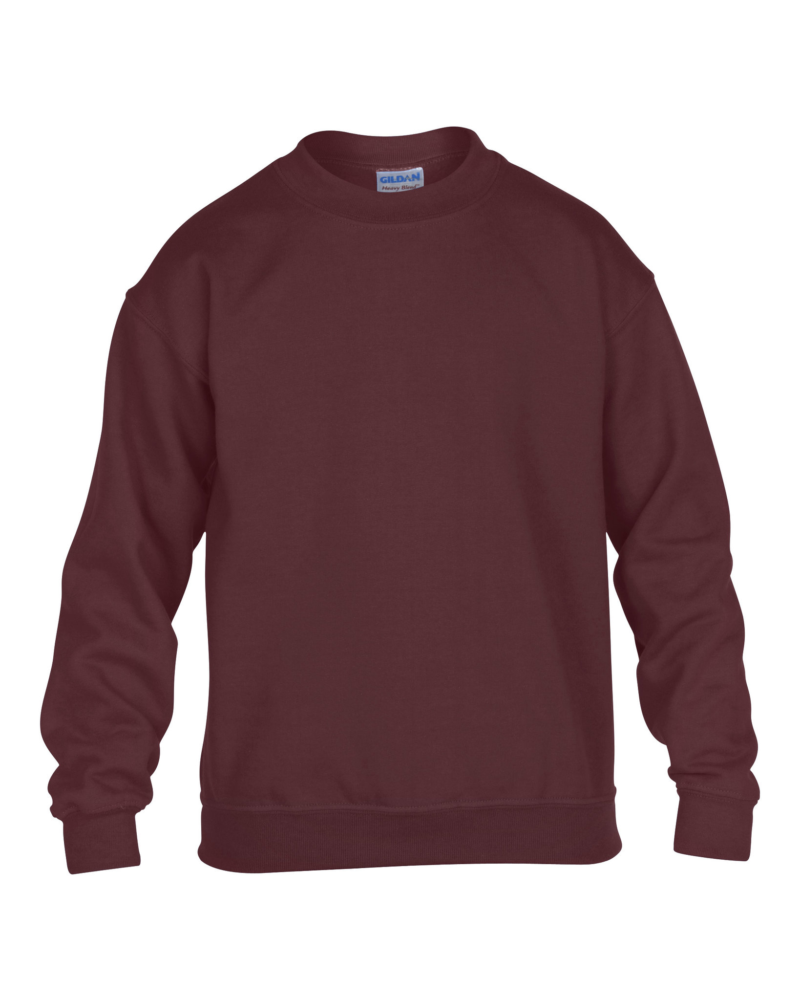 Sweatshirt personnalisable Crewneck marron - sweatshirt promotionnel