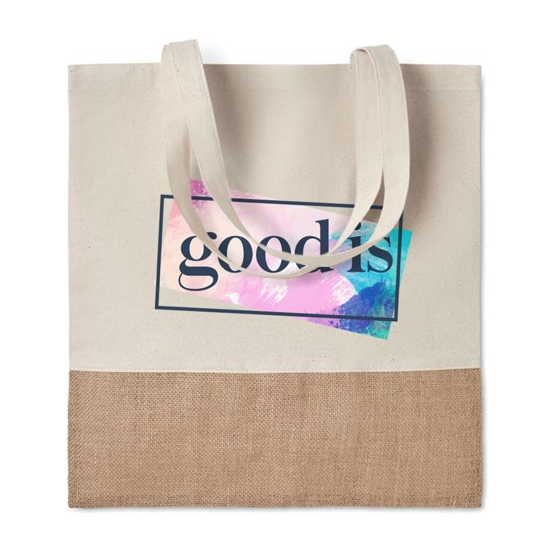 Sac à provisions publicitaire en jute INDIA - Goodies écologique