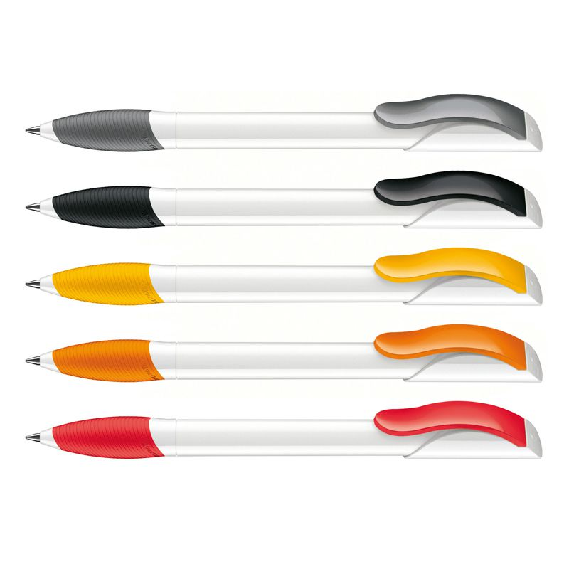 Stylo bille publicitaire Hattrix Polished Basic Soft Basic - stylo personnalisable