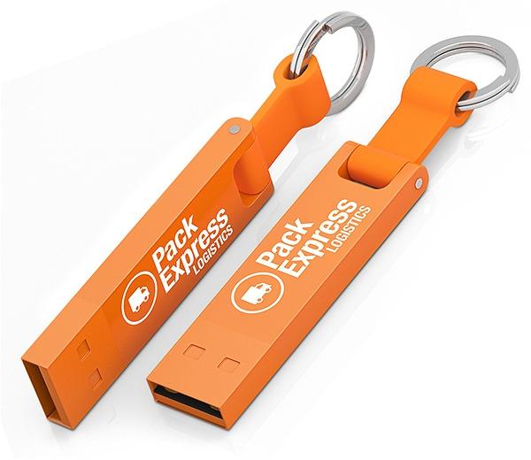 Clé USB publicitaire Iron Elegance C - Clé USB personnalisable - blanc