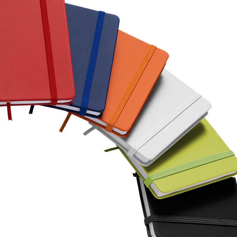 Carnet publicitaire à fermeture élastique Rainbow