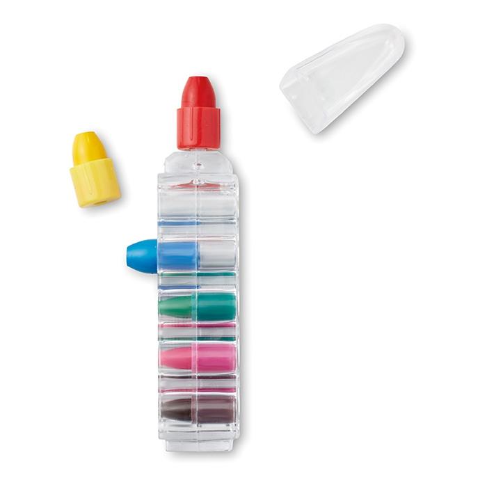Cadeau publicitaire pour enfants - Set de crayons publicitaires cire Magic