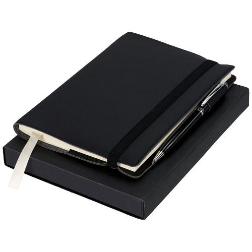 carnet personnalisé avec stylo bille coffret Luxy - cadeau entreprise