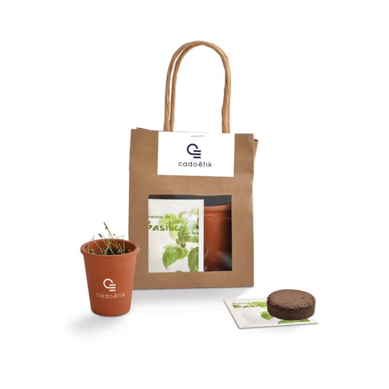 Goodies écologique - Pochon en Kraft semis avec pot