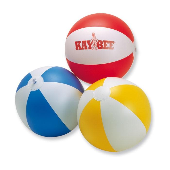 Ballon de plage publicitaire Playtime blanc/bleu - objet publicitaire