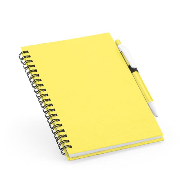 Carnet personnalisable écologique Brat bleu clair - carnet personnalisable
