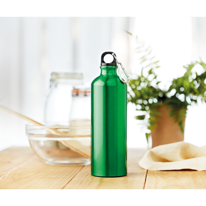 Gourde personnalisée en aluminium 750 ml Big Moss - vert