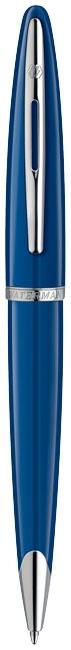 Cadeau d'entreprise Made in France - Stylo bille publicitaire Carène bleu Waterman