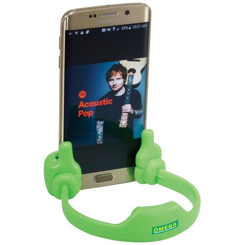 Support publicitaire pour smartphone/tablette Thumbs Up vert