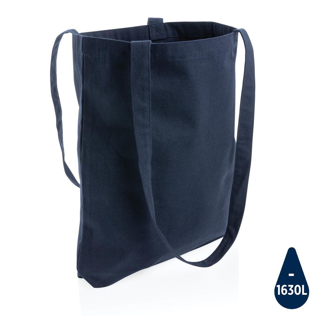 Tote bag publicitaire en coton recyclé marine 330 g Aware