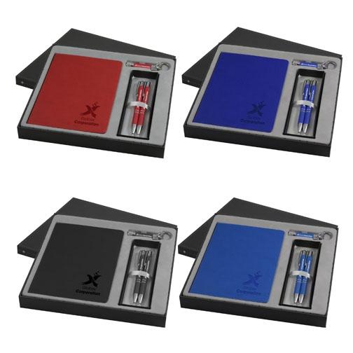 Coffret personnalisable Trois Amis Soft Touch - cadeau publicitaire