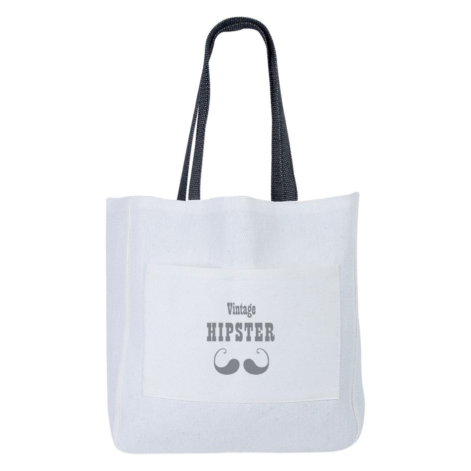 Sac shopping personnalisable écologique Hipster - objet personnalisable écologique