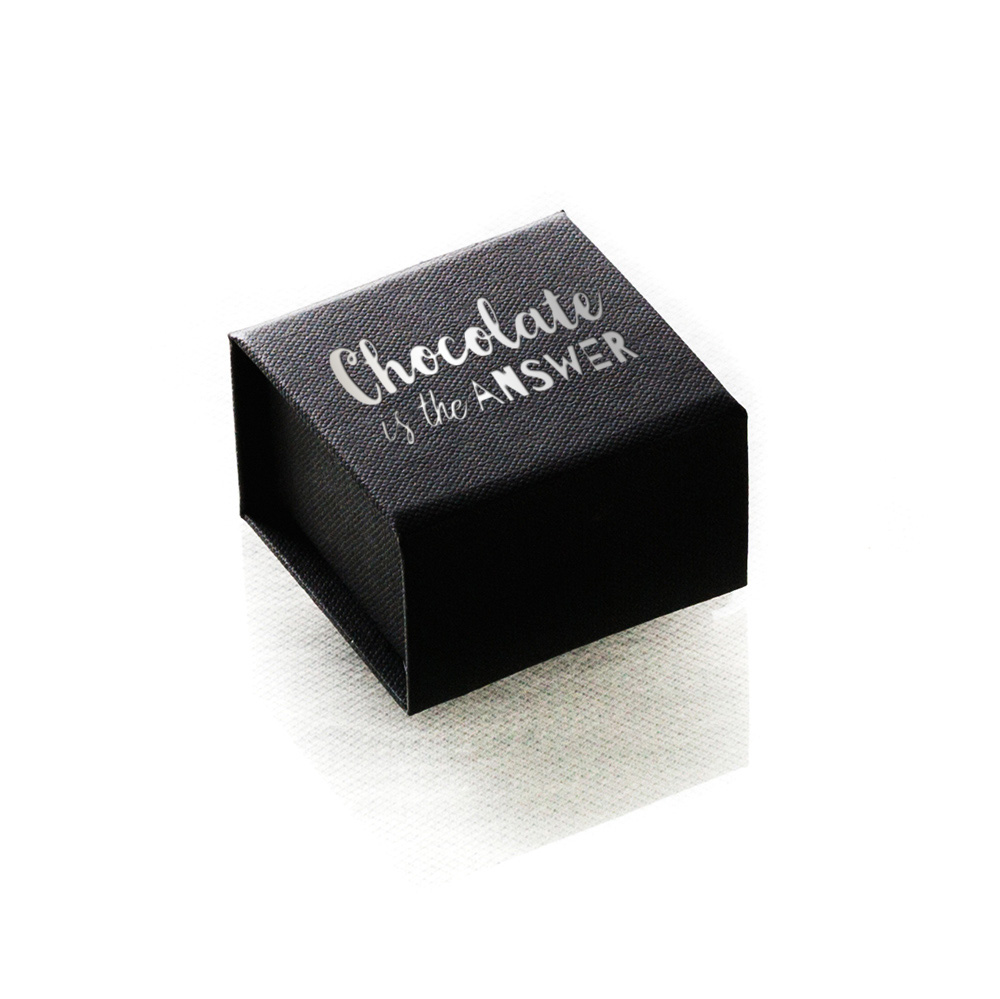 Cadeau d'entreprise gourmand - Ecrin de 6 carrés de chocolat publicitaire