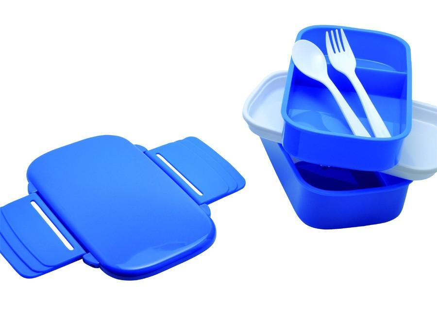 Lunch box publicitaire XL Osaka bleue - cadeau publicitaire