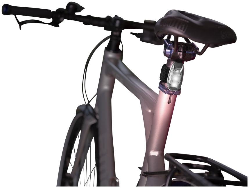 Lampe de vélo publicitaire Ridéo - objet publicitaire prévention