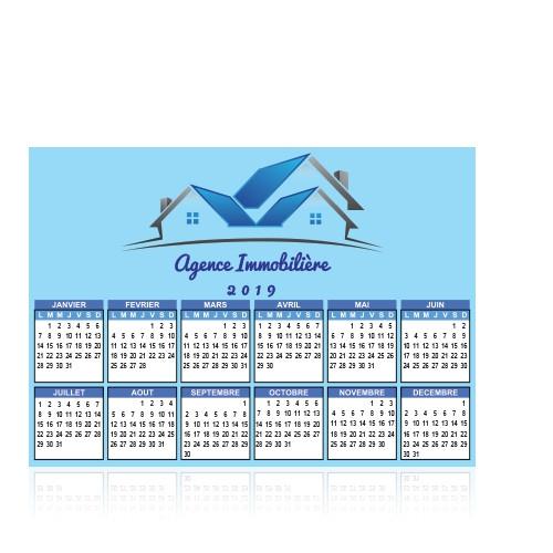 Calendrier publicitaire 2019 Eon - calendrier personnalisable