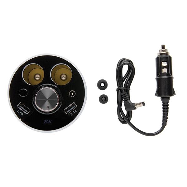 Cadeau d'entreprise - Chargeur de voiture personnalisé pour porte-gobelet avec oreillette CallMe