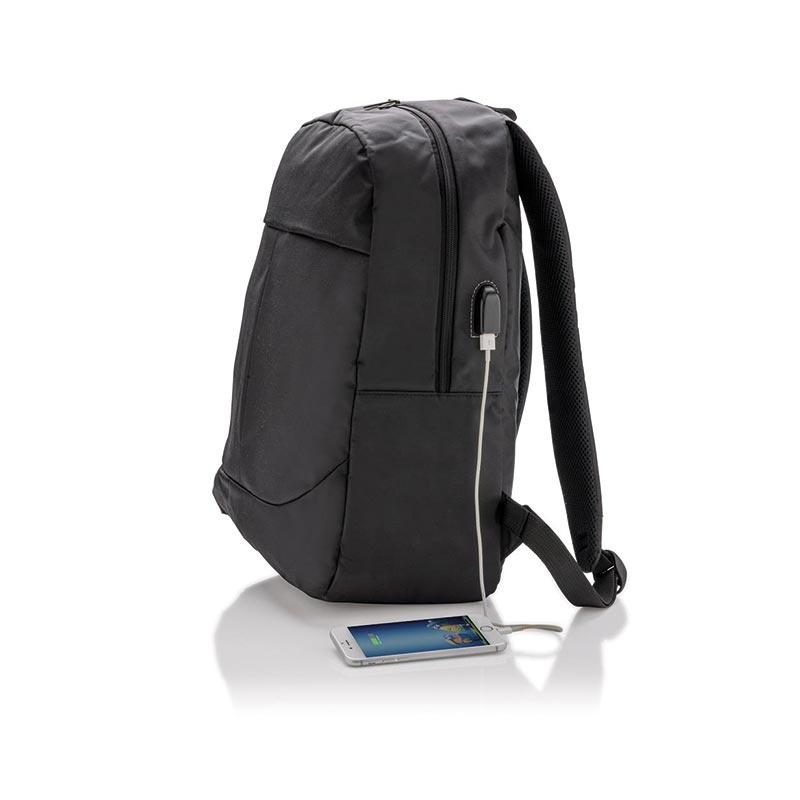 Cadeau d'entreprise pour Noël - Sac à dos pour ordinateur avec prise USB Tool