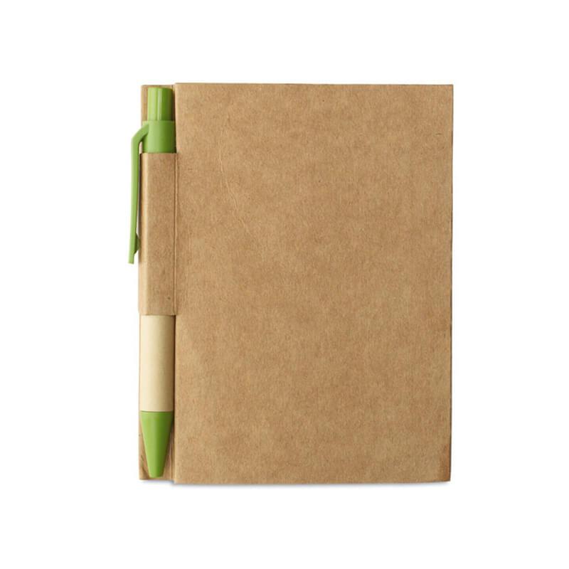 Cadeau publicitaire écologique - Carnet petit format en carton