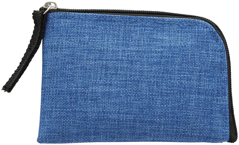 Porte-carte publicitaire bloqueur RFID Buffer bleu