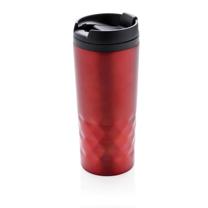 Mug personnalisé géométrique Plick rouge - objet publicitaire