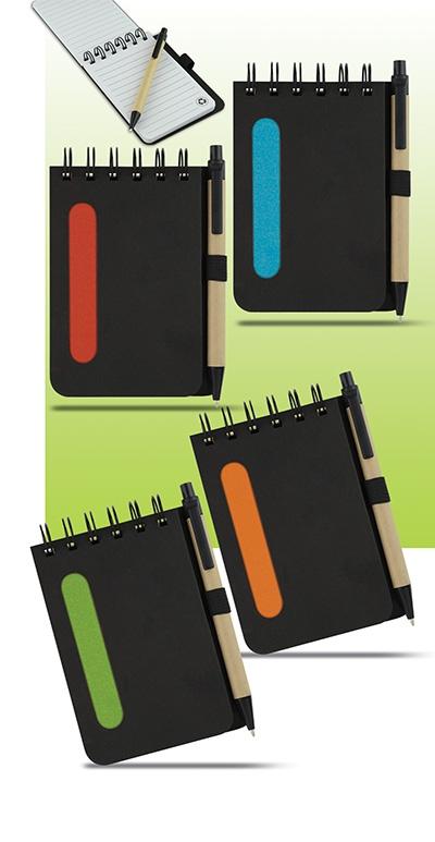 Bloc-notes publicitaire écologique avec stylo - Goodies entreprise