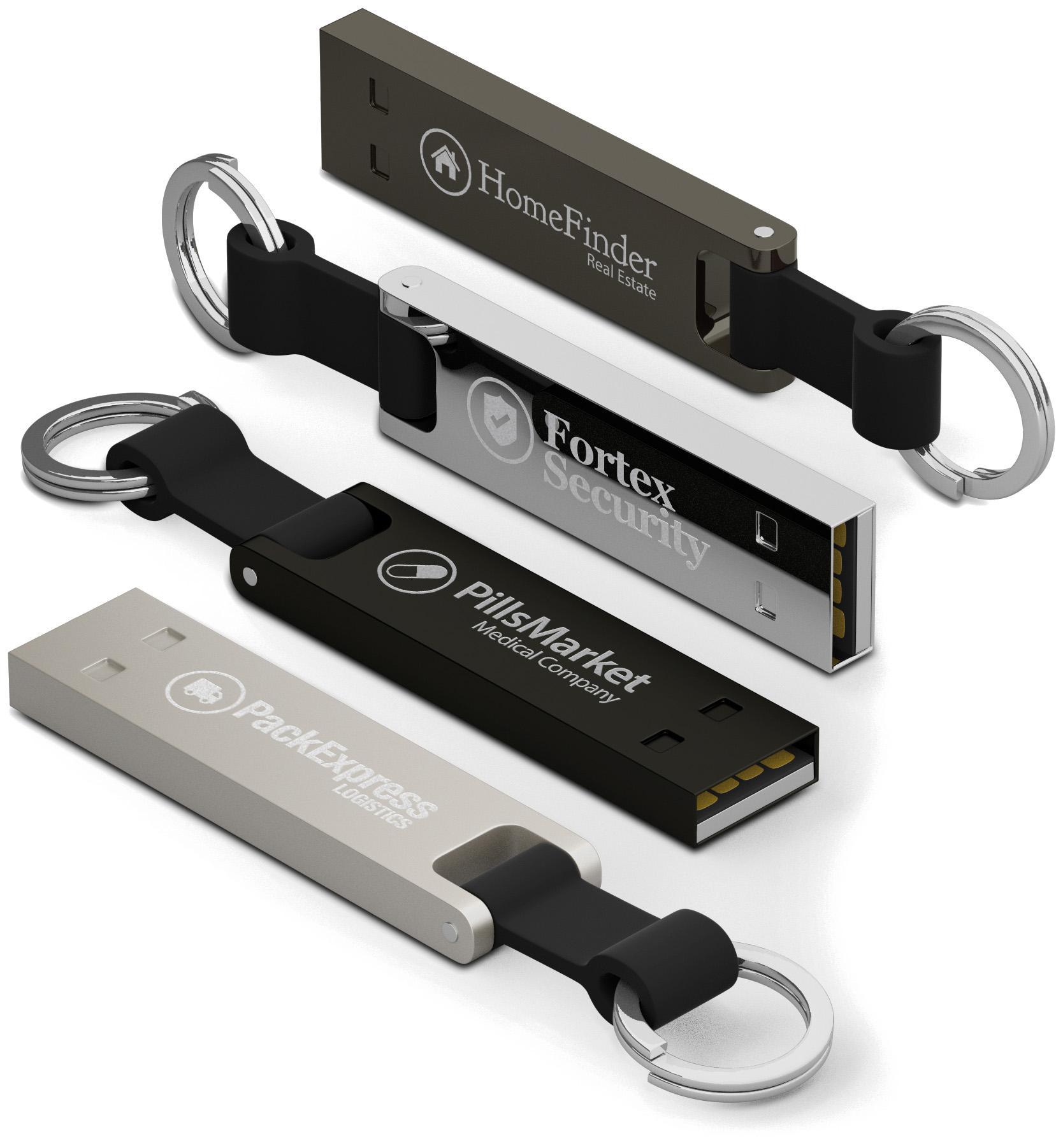 Clé USB personnalisable Iron Elegance - Clé USB publicitaire