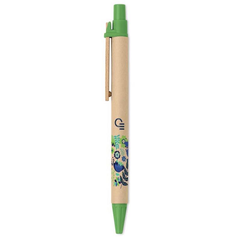 Goodies stylos - Stylo bille publicitaire en carton recyclé et PLA Ticino
