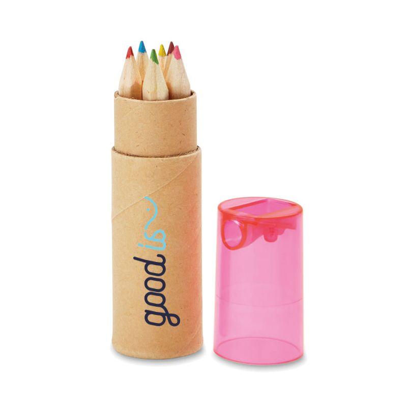 Goodies entreprise - Tube de 6 crayons de couleur Petit Lambut