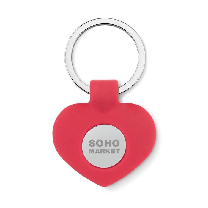 Goodies pour la Saint-Valentin - Porte clés personnalisé cœur avec jeton Cuore