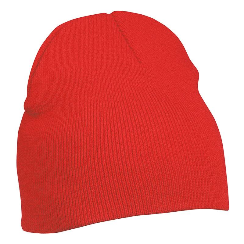 Bonnet publicitaire tricot sans revers Bobo - Objet publicitaire textile hiver - orange