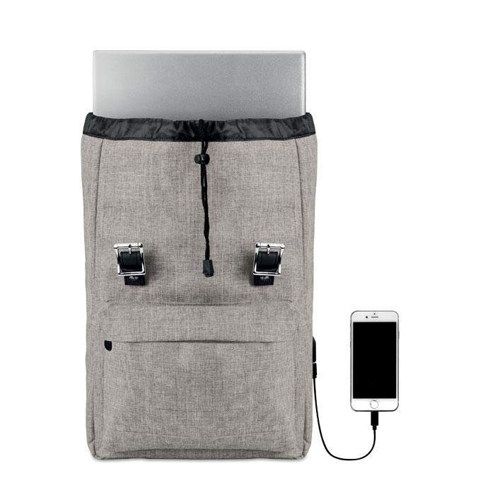 """sac ordinateur 15"""" personnalisé - Sac à dos ordinateur publicitaire USB Riga"""