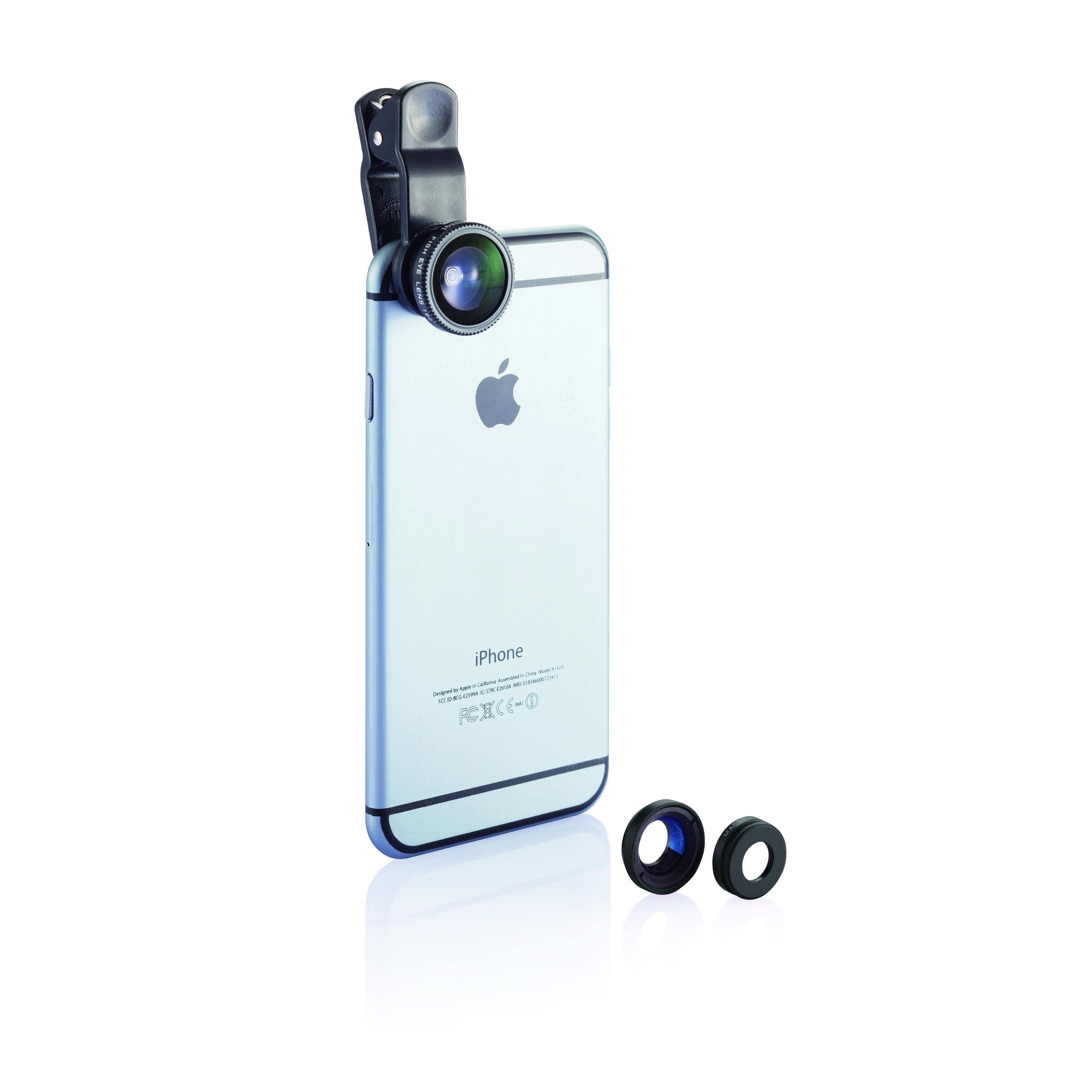 Set 3 pièces pour caméra téléphone portable - cadeau d'entreprise