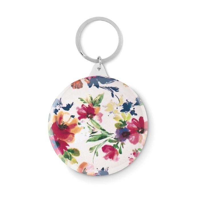 Goodies entreprise - Portes-clés publicitaire badge Pin Ring