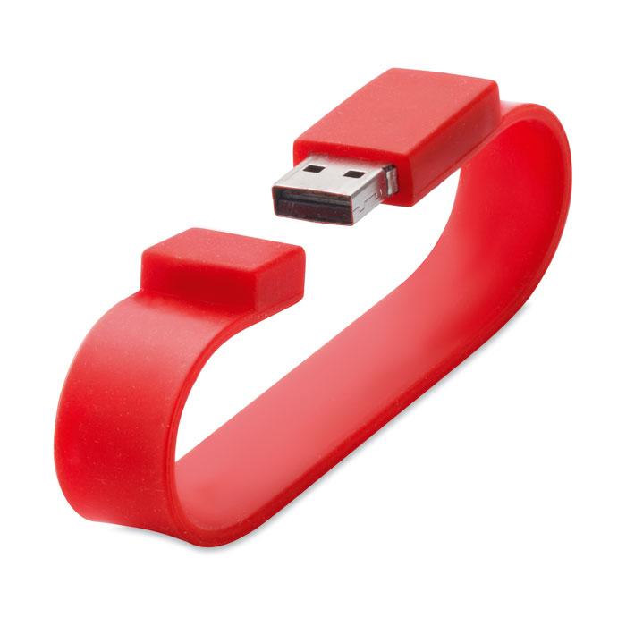 Clé USB publicitaire Silicone Wrist blanc