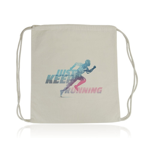 Gym bag publicitaire écologique Quadribag - sac personnalisable en transfert quadri