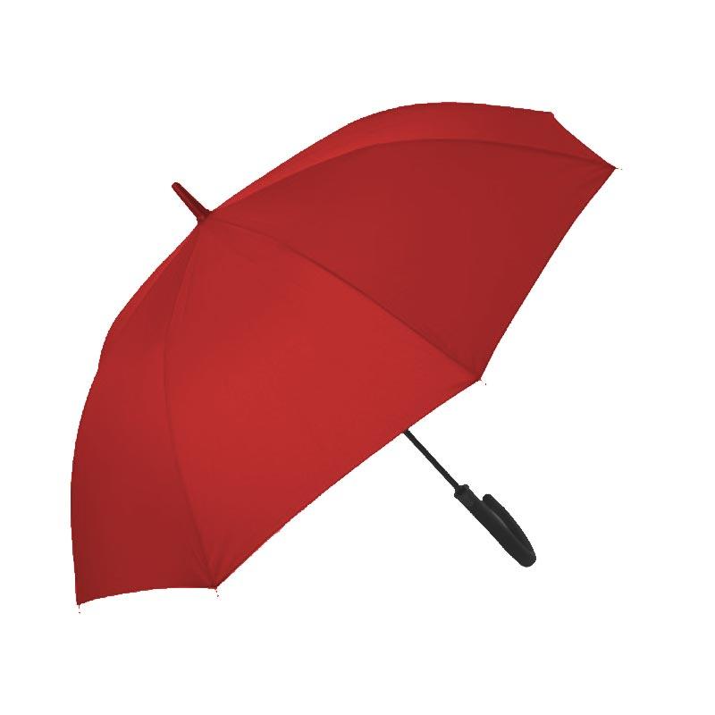 parapluie publicitaire droit rainy rouge