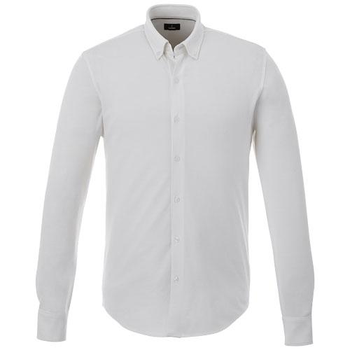 Chemise publicitaire pour homme en coton blanc Bigelow - textile publicitaire écolo