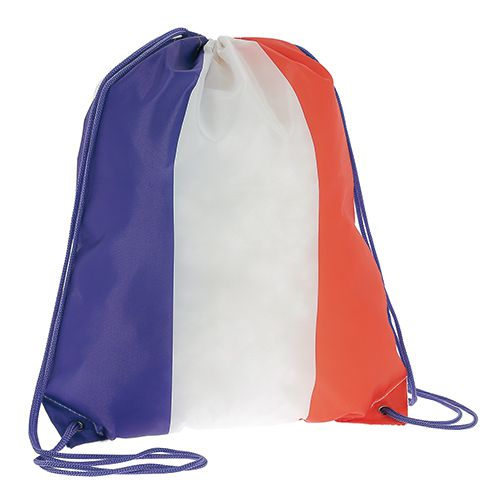 objet publicitaire coupe du monde - gymbag personnalisé drapeau France