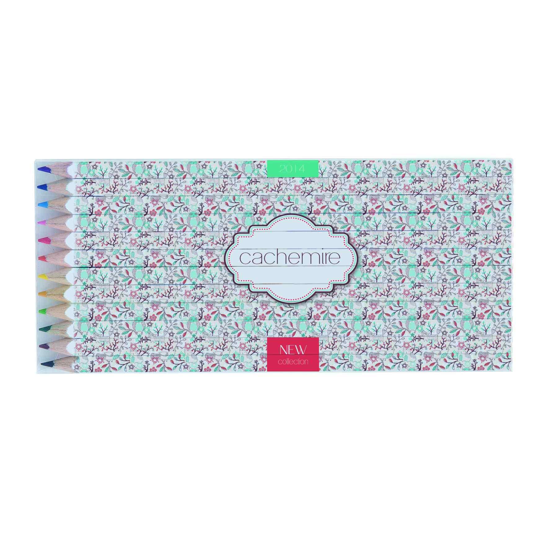 cadeau promotionnel - set crayons de couleurs écolos publicitaires marquage quadri Eco 17,6