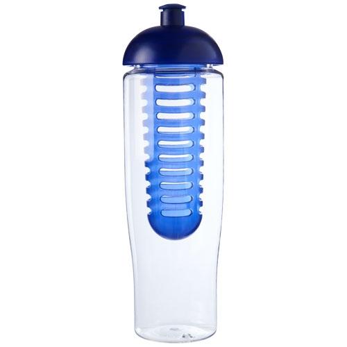Bouteille de sport publicitaire et infuseur H2O Tempo® 700 ml avec couvercle dôme - Gourde personnalisable