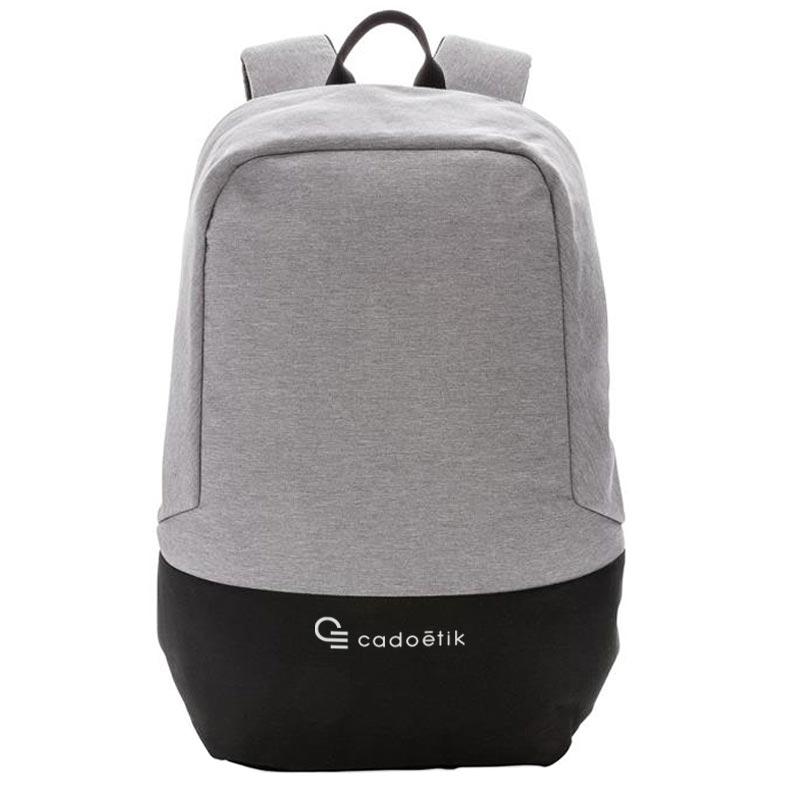 sac à dos publicitaire antivol anti RFID - coloris gris